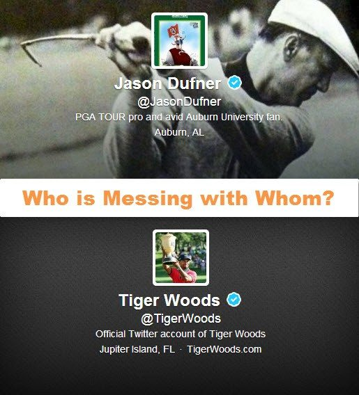 Jason Dufner Tiger Woods - Who is messing with whom