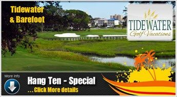Barefoot Golf course together with Tidewater Golf Course  for a 2 play special