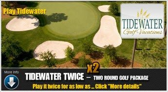 Play Tidewater Golf Course North Myrtle Beach Twice for a special 2 Play rate