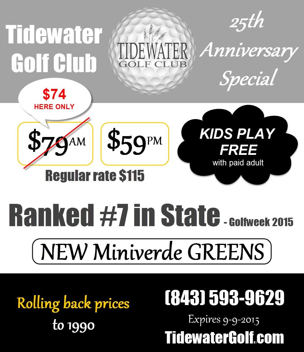 2015 Summer Golf Special at Tidewater Golf Club