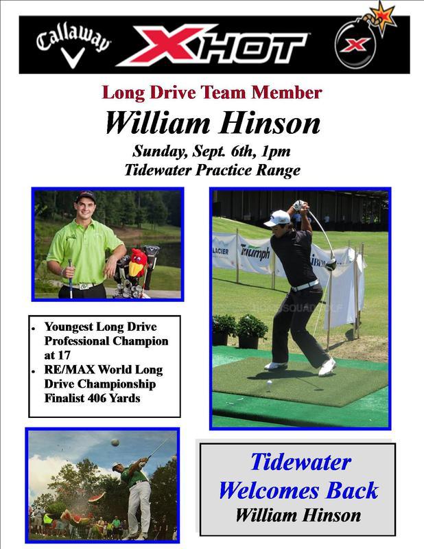 William Hinson Long drive champion