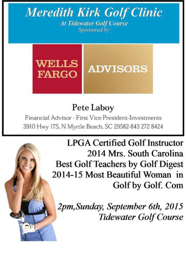 TCTC meredith Kirk LPGA Certified golf instructor. Meredith Kirk Golf Clinic
