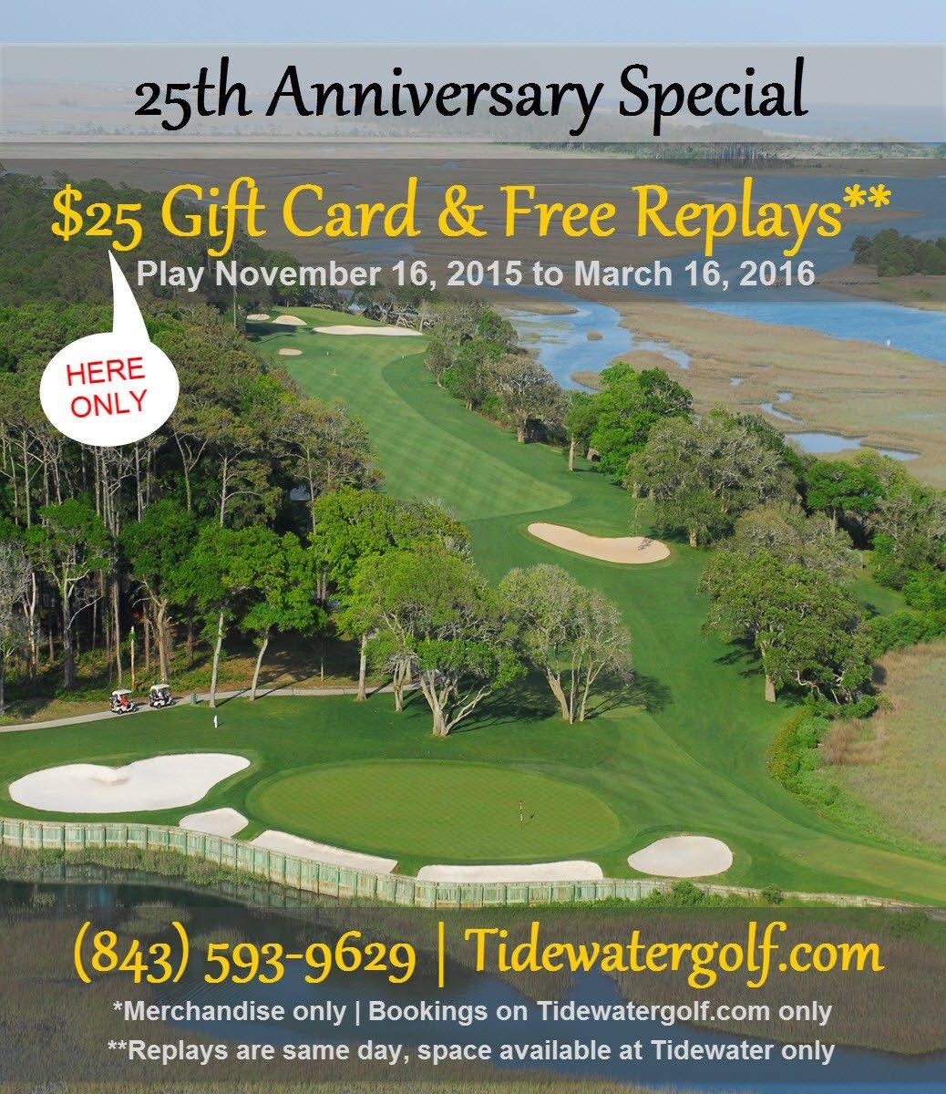 25th anniversary golf special Nov 16 to Mar 16 2016