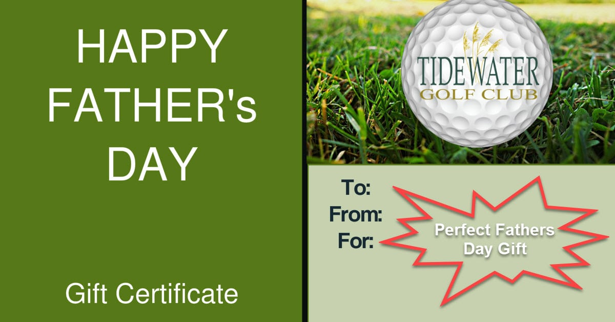 Golf Gift Certificates North Myrtle Beach Golf Courses Tidewater