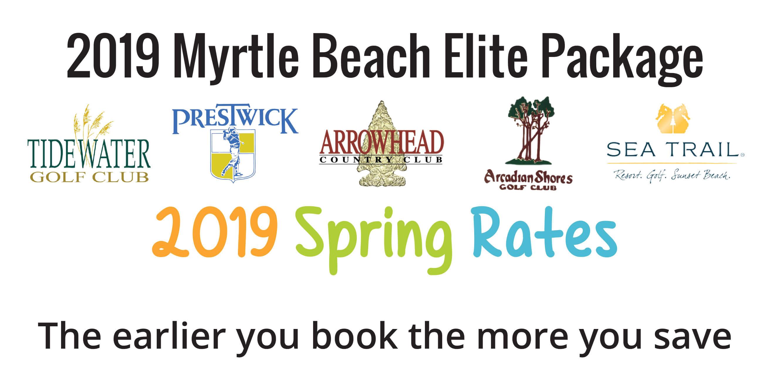 Spring Elite Golf PAckage- Myrtle Beach Best Golf Holiday Offer