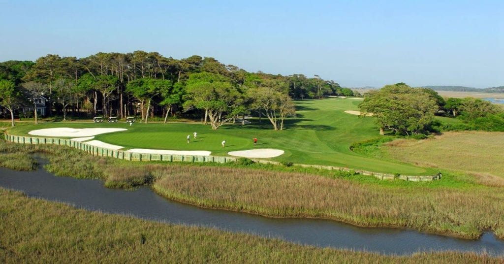 12th green and 13th hole Tidewater golf club