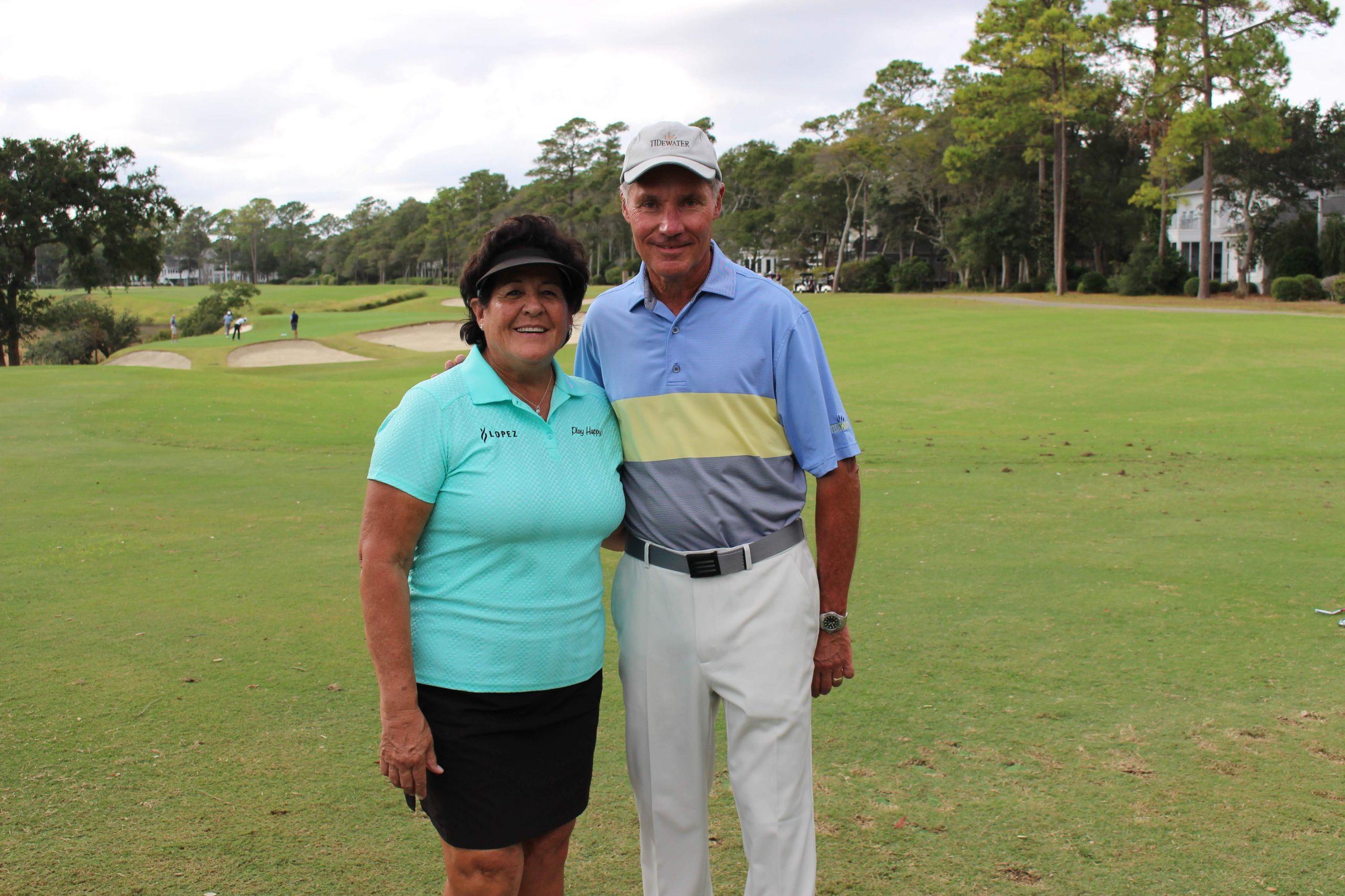 Nancy Lopez-Doug Harvey no 3 hole Tidewater Golf